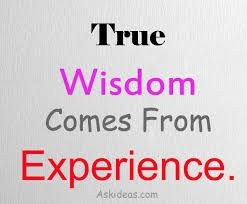 "Will it be more Experience or ""Wisdom"" this time?"
